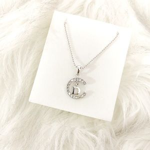 """Silver """"D"""" or """"CD"""" Initial Necklace"""